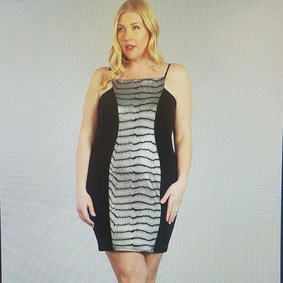 1x-3x New Plus size black gold dress Boutique